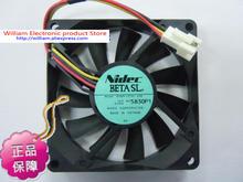 New Original Nidec D08R-12TS1 03B 80*15MM DC12V 0.09A projector silent cooling fan
