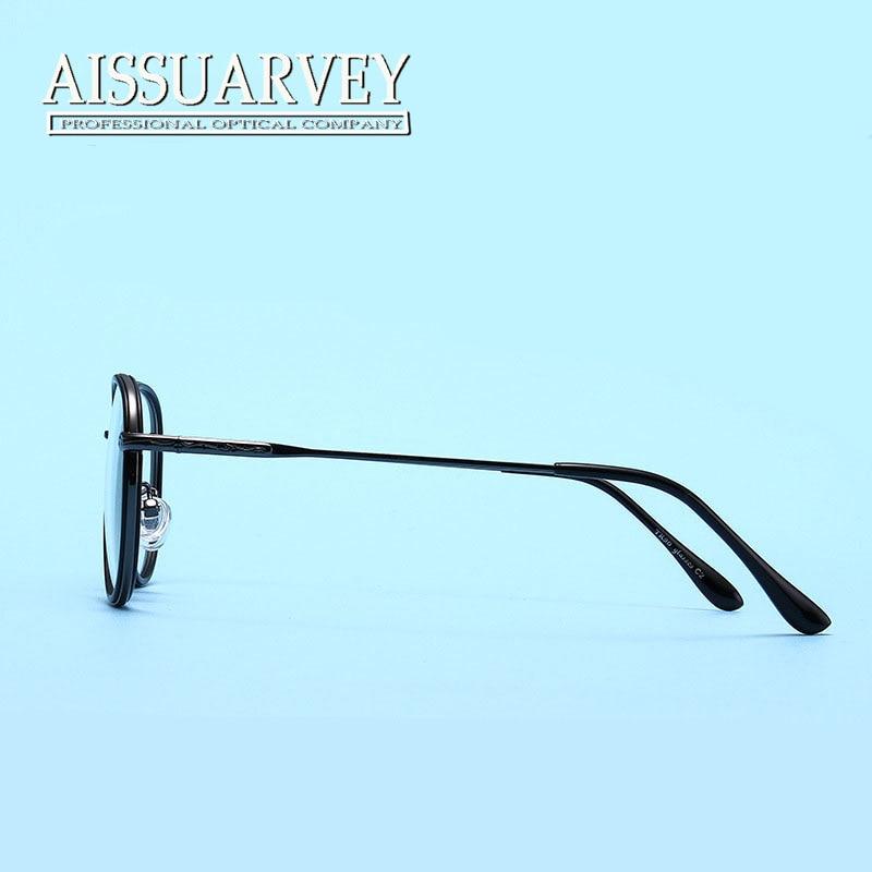 Vintage Round Metal Eyeglasses Frames Men Women Glasses Double ...