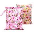 Useful Waterproof Dry Bag Reusable Zipper Baby Cloth Diaper Wet Dry Bag for Stroller Swimer Tote