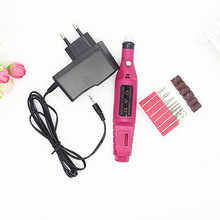 1set 6bits 20000rpm Professional Electric Manicure Machine Nail Drill Pen Pedicure File Polish Shape Tool Feet Care Product