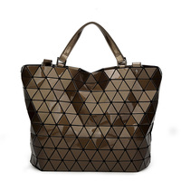 2018 Women Japan Bags Bucket Bag Geometry Sequins Mirror Saser Plain Folding Shoulder Bags Female Tote bao Ladies Handbags