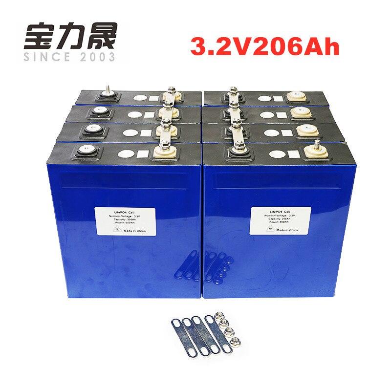 12 pièces 3.2V 200AH 206AH 3C 600A lifepo4 cellules de batterie 12v200ah 24v200ah pour 12v solaire US/ue sans taxe UPS ou FedEx livraison gratuite