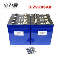 12Pcs 3.2V 200AH 206AH 3C 600A lifepo4 Battery cells 12v200ah 24v200ah for 12v Solar US/EU Tax Free UPS or FedEx free shipping