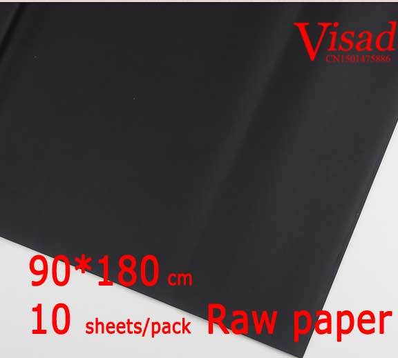 black Chiese xuan paper,VISAD painting paper,90*180cm rice paper decoupage drawing paper free shipping 100 pieces lot 7 colors hand made chinese rice paper for painting and decoupage 64 135cm xuan paper