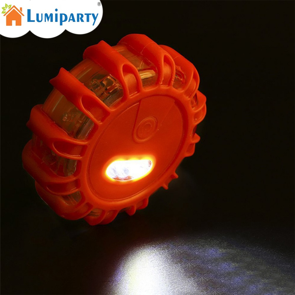 1PC/3PCS 12+3LED Multifunctional Emergency Roadside Safety Light Road Flares Rescue Light Warning Lamp Outdoor Camping Light