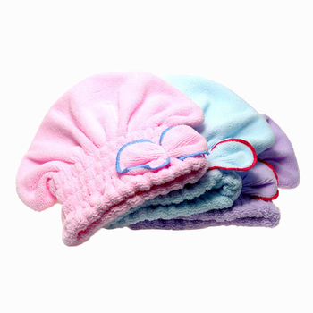 2016 Useful Home Textile Hair Quickly Dry Hat Microfiber Hair Turban Wrapped Towel Bathing Accessories Pink