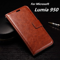 Lumia 950 Card Holder Cover Case For Microsoft Lumia 950 Leather Phone Case Ultra Thin Wallet