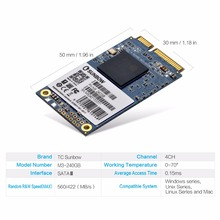 TC-SUNBOW MSATA 3 SSD 60GB 120GB 240GB Solid State Hard Drive for desktop laptop PCs MacPro free gift given