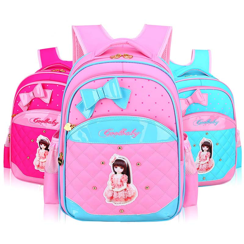 Fashion Students School Backpack For Girls Cute Bow Tie Decoration 2017 New Super Light Children School Bag Mochila