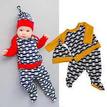Toddler Kids Baby Girls Boys Autumn Outfits Clothes T-shirt+Pants Hat 3PCS Set