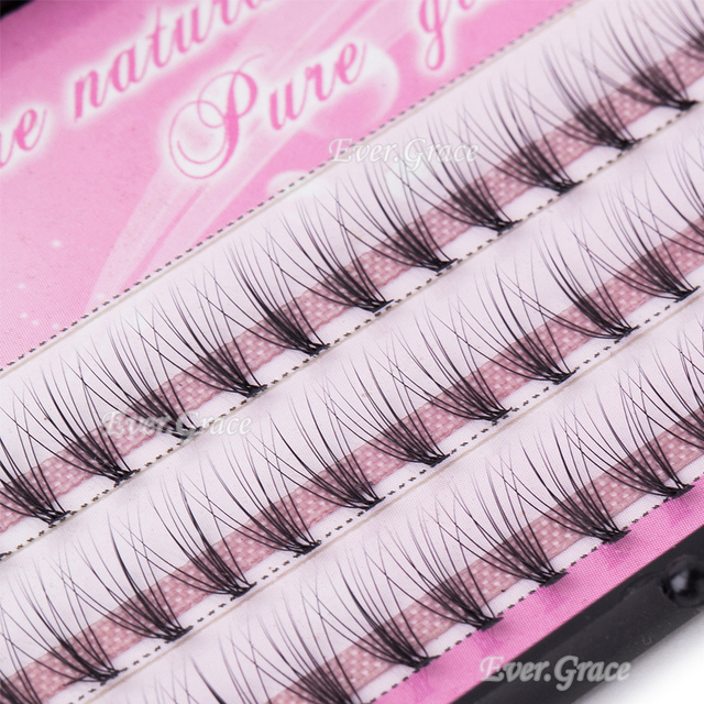 ICYCHEER ICYCHEER 6/8/10/12/14mm 60 pieces 0.07 thickness hair C curl eyelash extension  false strip eyelashes individual lashes