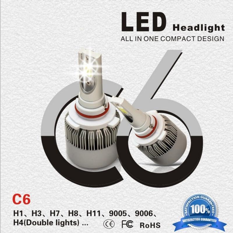 2x H8 H9 H11 6000K 50W LED 8000LM Car Headlight Fog Lamp High Low Light Bulb