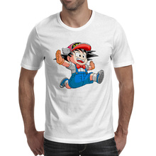 Happy Goku With Ara Hat T Shirt Funny Anime Skate T-shirt Creative Pop Novelty Unisex Tee