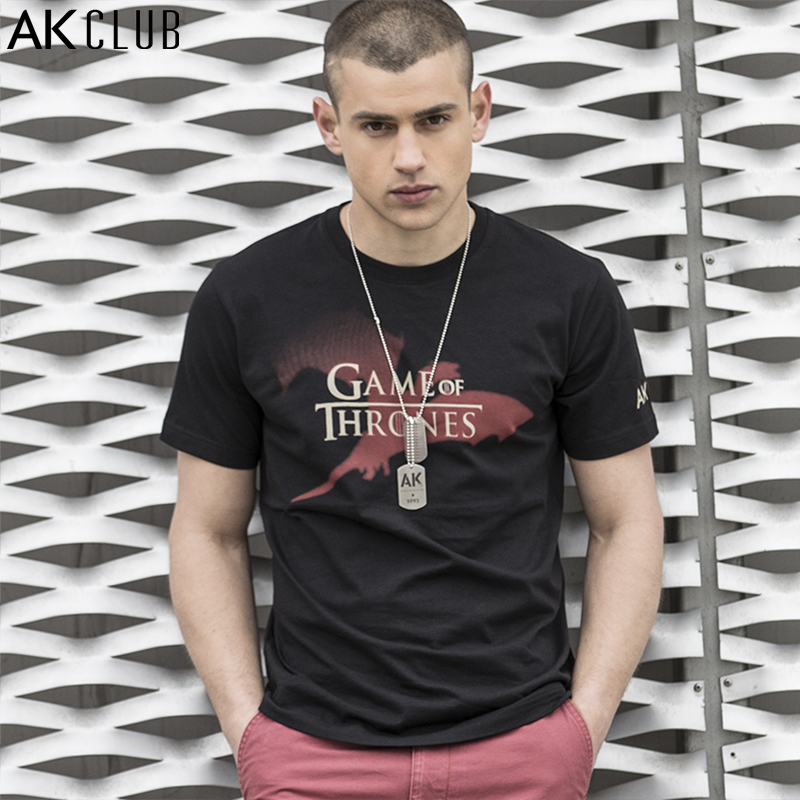 AK CLUB Men T Shirt Game Of Thrones Authorized Tshirt A Song Of Ice And Fire