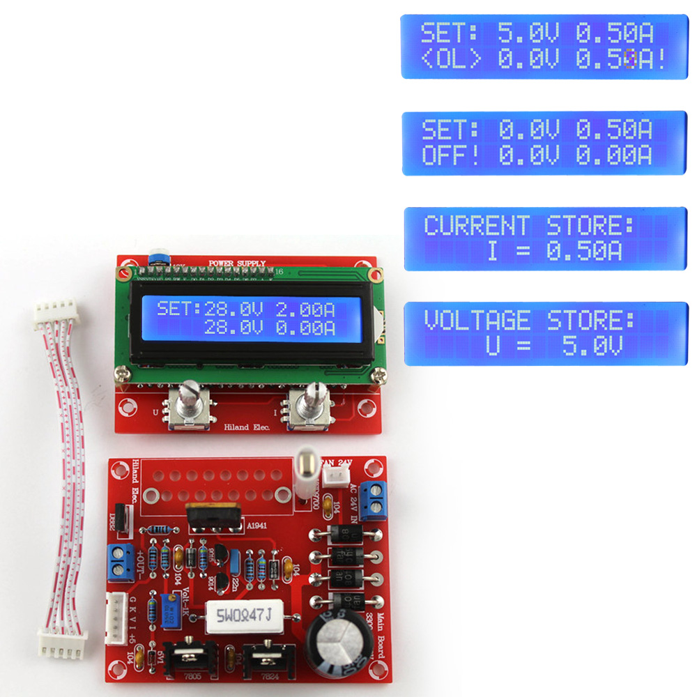 0 28v 001 2a Adjustable Dc Regulated Power Supply Diy Kit Lcd 030v 02a Electronic Circuits Schematics Diagram Display Short