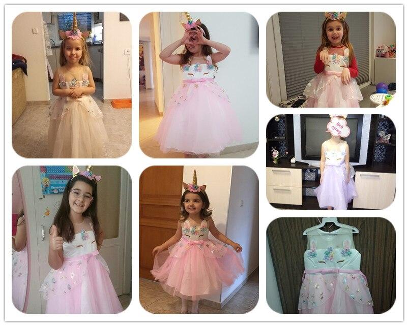 HTB1BA LHrpK1RjSZTEq6AWAVXab Unicorn Dress Birthday Kids Dresses For Girls Costume Halloween Christmas Dress Children Party Princess Dresses Elsa Cinderella
