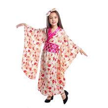 Японский Костюм Гейши для девочек; Одежда костюмированной вечеринки;