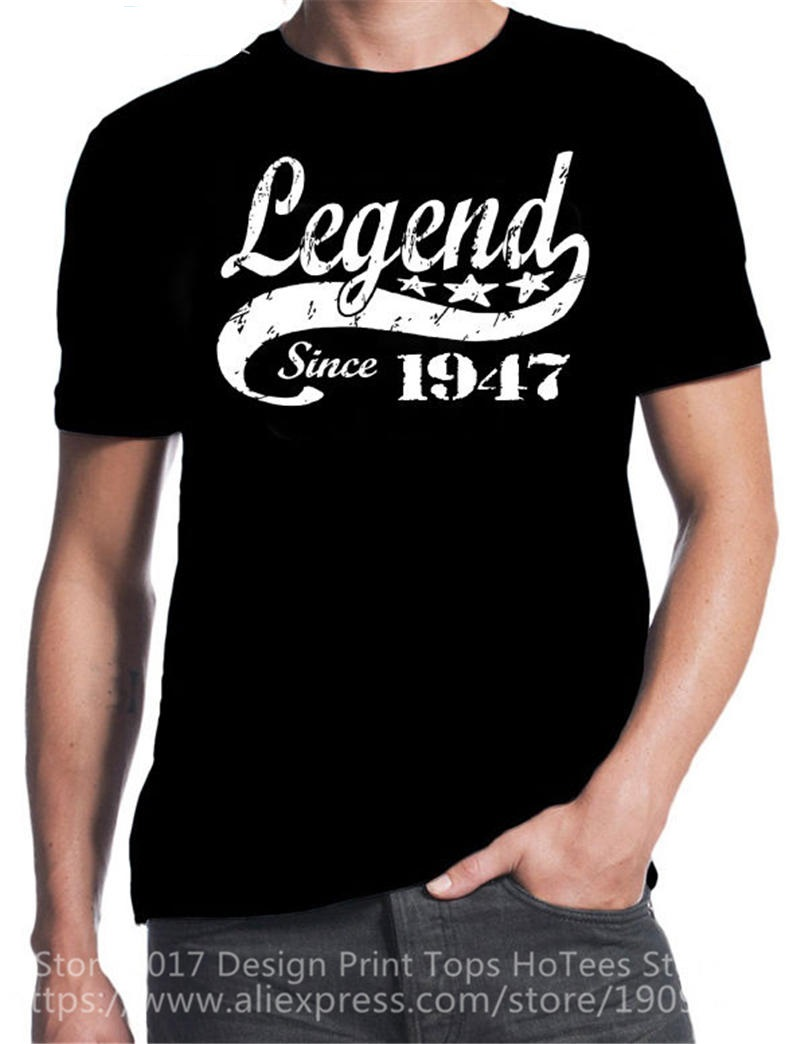 Print Cotton Shirts MenS Best Friend O Neck 70Th Birthday Legend