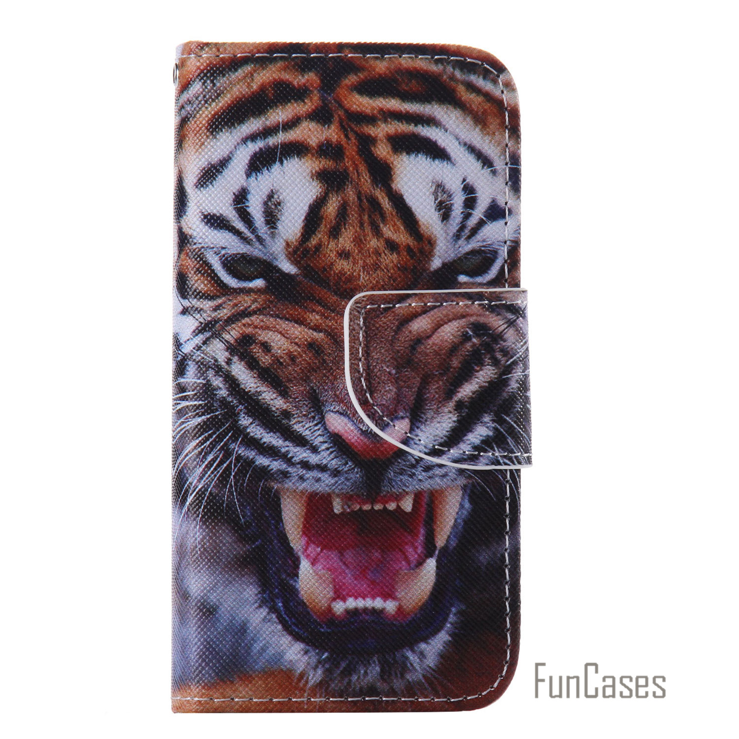 Funda PU Leather Flip Cell Mobile Phone Case For iPhone 5S Stand Wallet Card Slots Case Cover Cas For iPhone aifon 5S SE 5G Capa