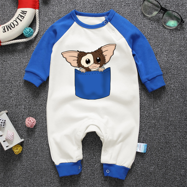 Pyjamas Bébé GREMLINS – Barboteuse Bébé À Manches Longues