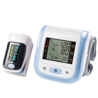 Yongrow Finger Pulse Oximeter And Wrist Watch Blood Pressure Monitor Digital Wrist Blood Pressure Meter With Family Health Care