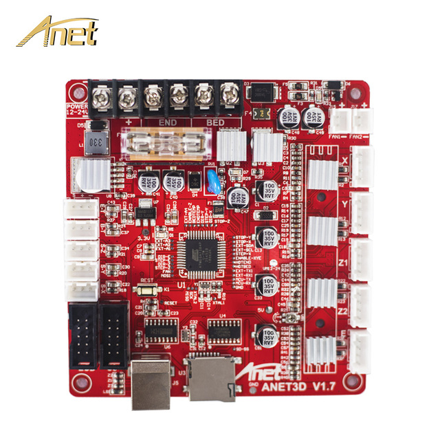 Updated 3D Printer Parts Control Motherboard for Anet 3d Printer Control Reprap Mendel for Anet A8 3D Printed Main board