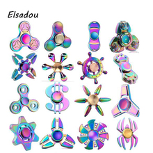 Elsadou Colorful Hand Spinner Toy Best Fidget Finger Spinner