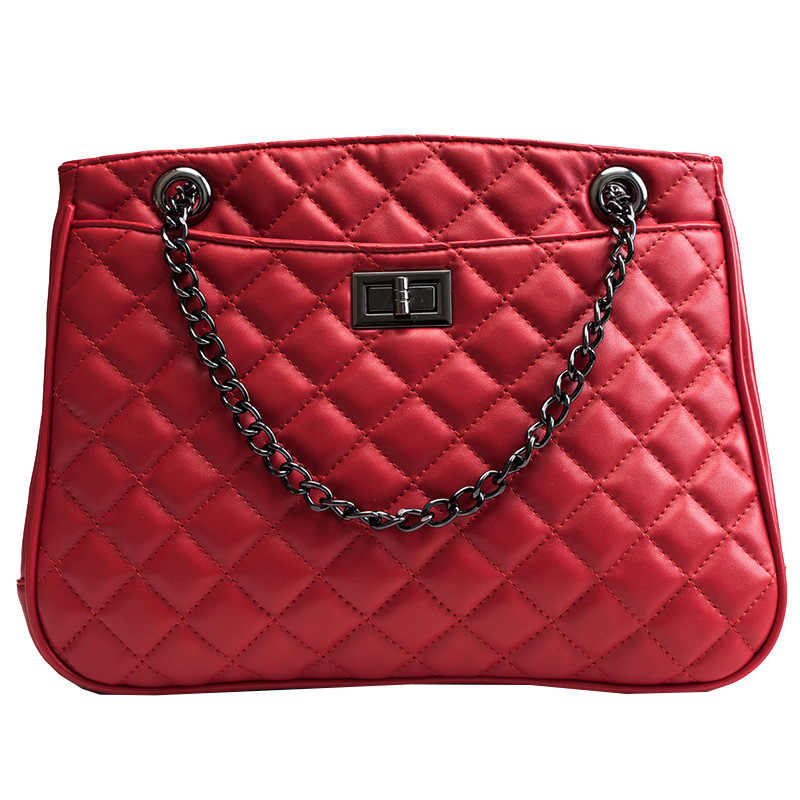 8efc87a70859 ICEV new chain quilted large capacity shopping tote bags for women PU leather  handbag shoulder clutch