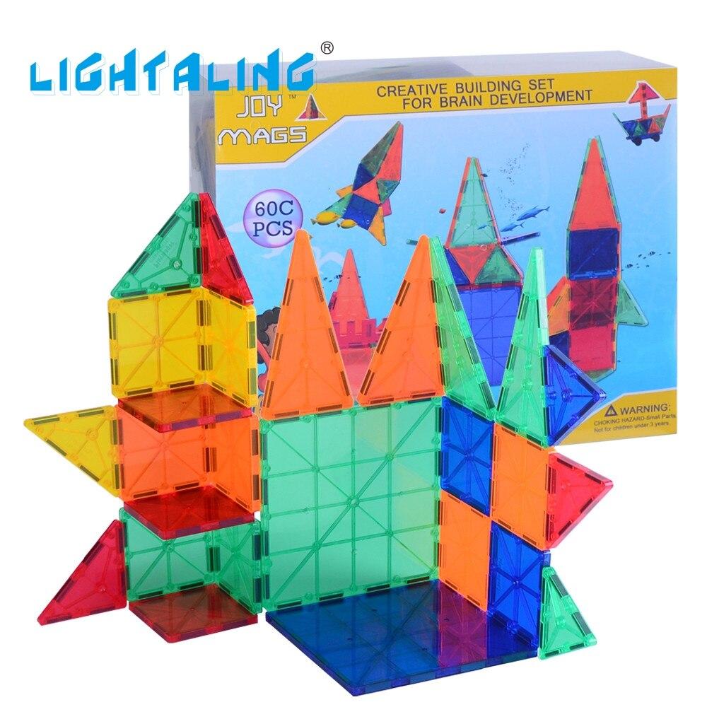 60/100/120 pièces jouets préscolaires magnétiques blocs de construction briques ensembles avec poche enfants apprentissage Machine pour enfants cadeaux