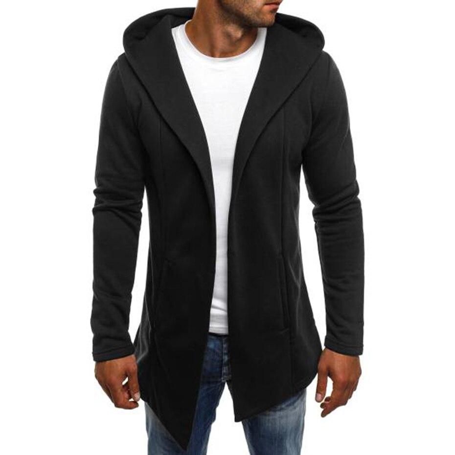 Zogaa 2019 New Casual Jacquard Hoodie Hip Hop Streetwear Sweatshirt Skateboard Long Sleeve Solid Zipper Hoodie Sport Casual Wear