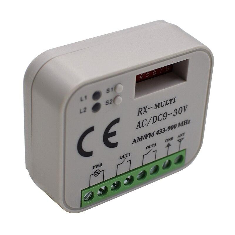 Hormann Remote-Control-Receiver Rolling-Code Faac Liftmaster Marantec 868mhz 433mhz 315mhz