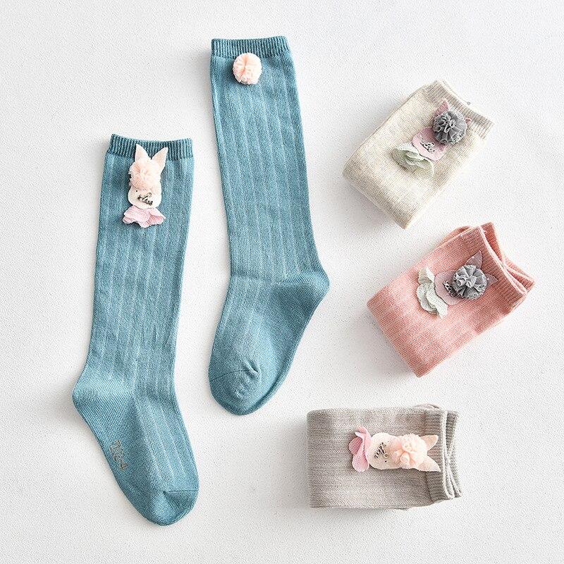 Baby Girls Spring Summer Cotton Knee High Socks Kids Toddler Girl Cartoon Socks Socks For Children Clothes Accessories 1-7Years