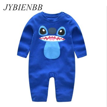 Baby Cartoon Blue Stitch Pajamas Clothing Newborn Infant Rompers Onesie Boy Girl Babe Animal Dog Costume Outfit Jumpsuit Autumn baby elephant kigurumi pajamas clothing newborn infant romper animal onesie cosplay costume outfit hooded jumpsuit winter suit