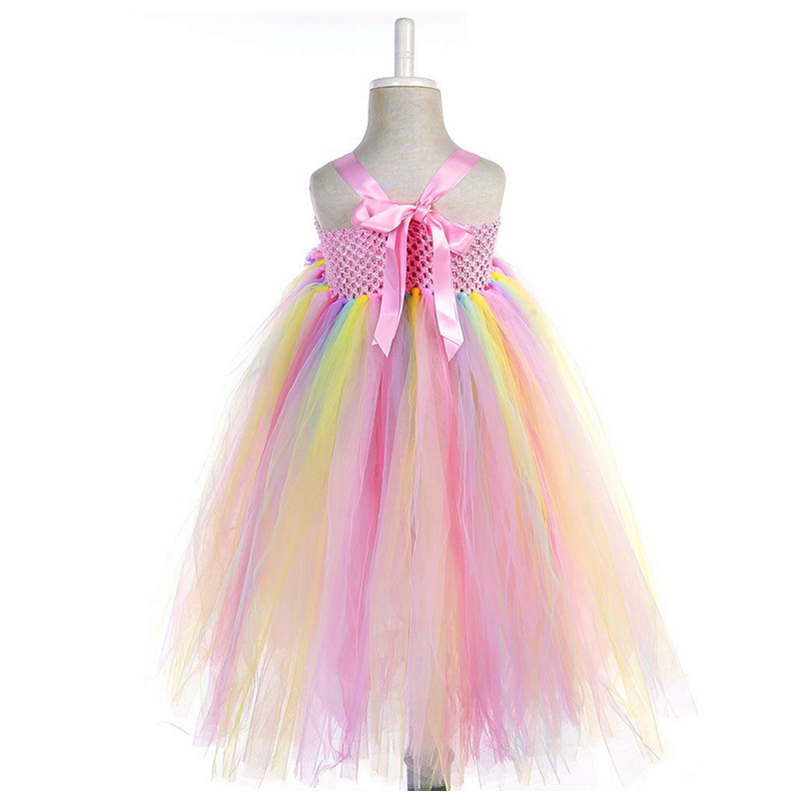 2019 Girls Unicorn Costume tutu Dresses Gentle Elegant Summer Dress for 2 3 4 5 6 7 8 9 10 11 Y Birthday Party Ceremony Wedding in Dresses from Mother Kids