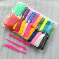 24 Colors 11g Bag Pearls Foam Playdough Modeling Clay Polymer Clay Play Magic Plasticine Doh Children