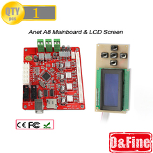 1 Piece Mainboard V1.0 And 1 Piece LCD Screen 2004 for Anet A8 3D Printer