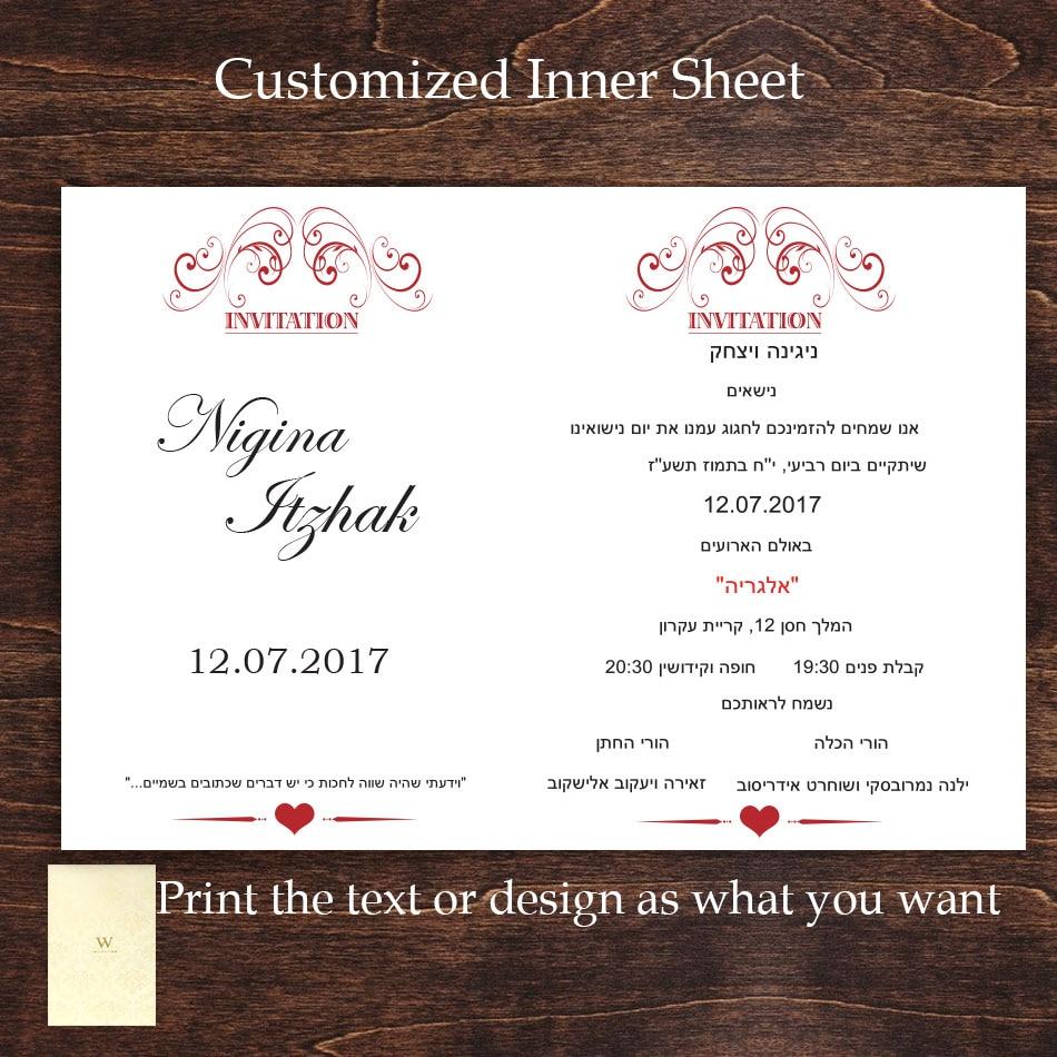 Laser Cut Wedding Invitations 3D Greeting Anniversary Custom Pocket ...