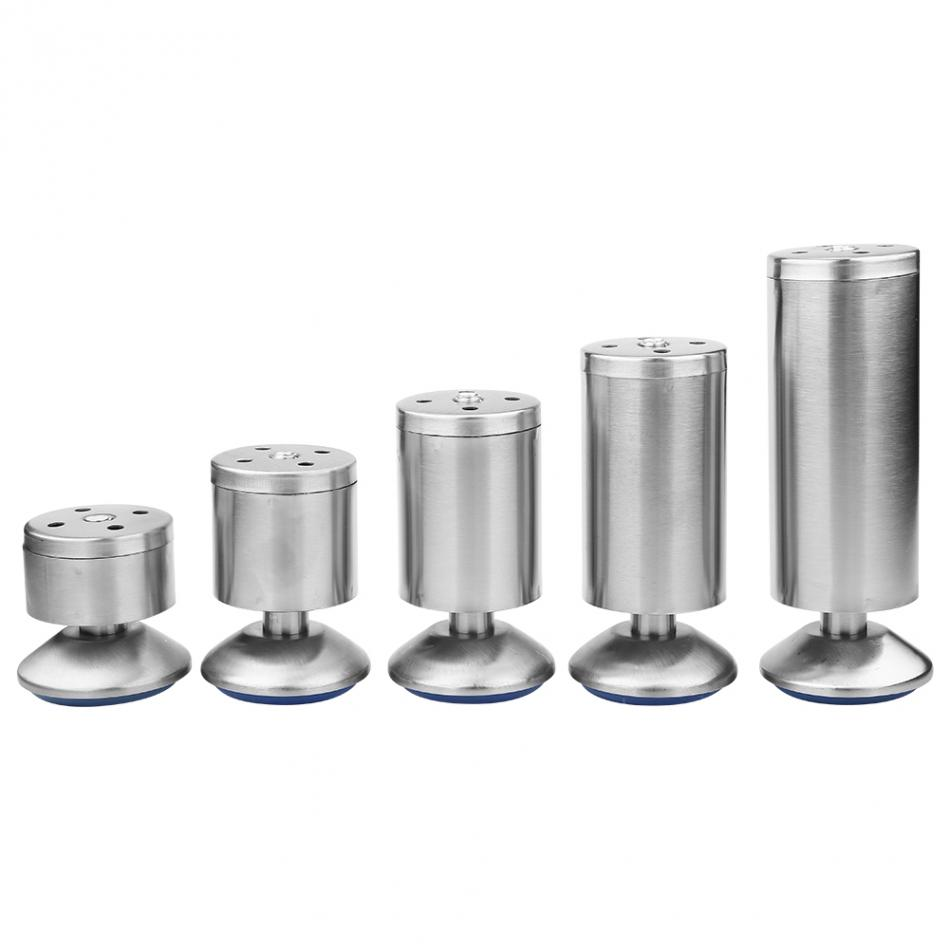 4Pcs Stainless Steel 50*60/50*80/50*100/50*120/50*150mm Height Sofa Leg Furniture Parts Bed/tv Cabinet Feet