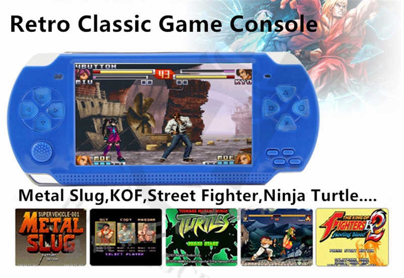 Upgrade New Version 4 3 inch 8GB retro mini handheld game console for gba  fc for snes for sega for neogeo arcade game player