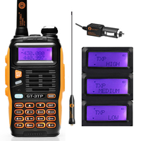 Baofeng GT 3TP MarkIII TP 1/4/8Watt High Power Dual Band 136 174/400 520MHz Ham Two way Radio Walkie Talkie with Car Charger