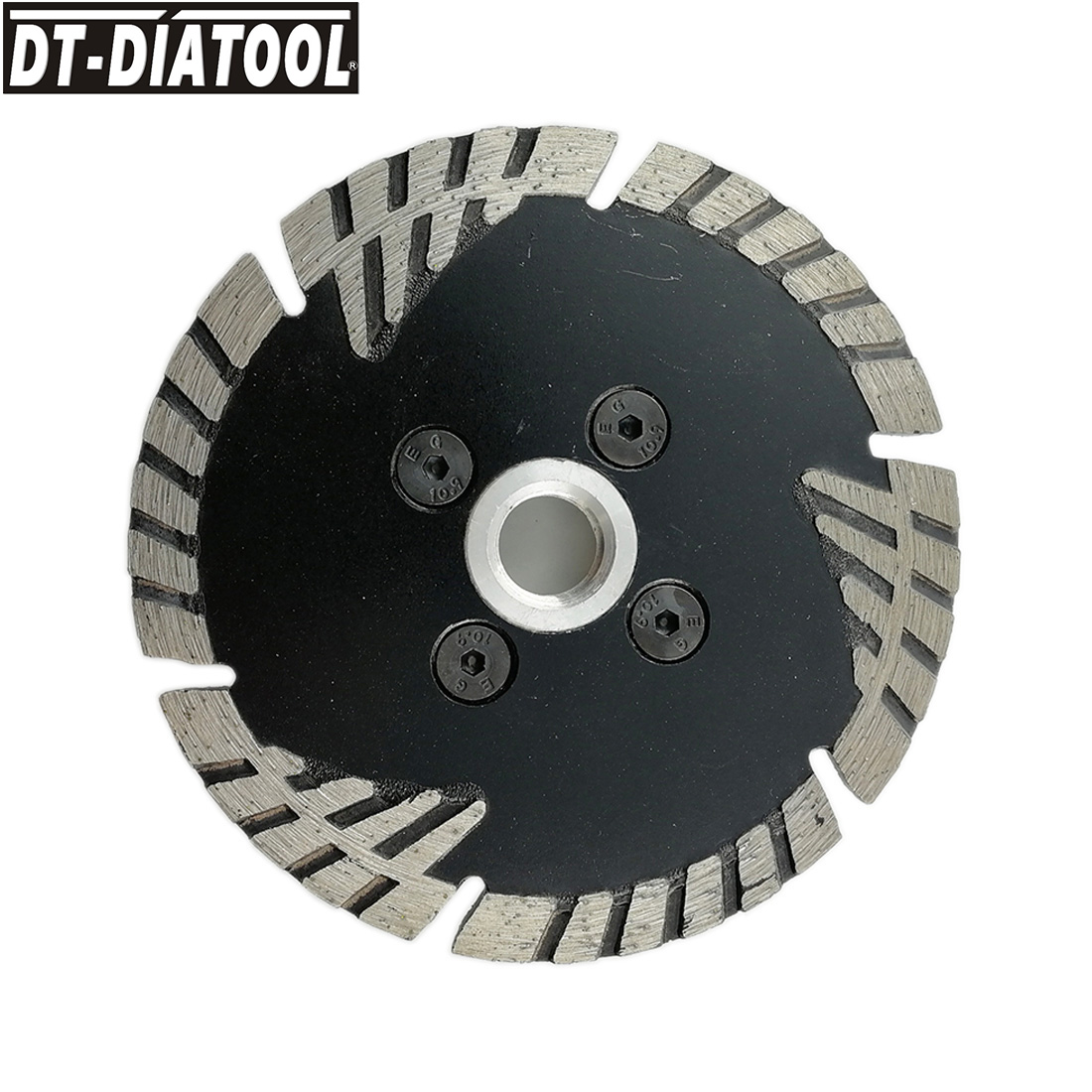 DT-DIATOOL 1unit Hot Pressed Diamond turbo Saw Blade with Slant Protection Teeth Cutting Disc for Brick Granite Marble 4