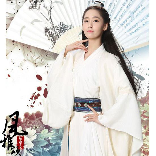 Padrão Linho Hanfu estilo Feito pelo Algodão de boa qualidade Chiffon clássico filme de artes marciais Chinesas Traje Traje de Fadas