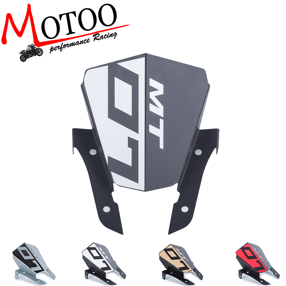 Motoo - For Yamaha MT-07 MT07 FZ07 FZ 07 MT 07 2013-2015 Motorcycle Motorbike Windshield Windscreen Aluminum motorcycle cnc aluminum windscreen windshield mounting bracket for yamaha mt07 mt 07 2014 2015 2016 red new style with logo
