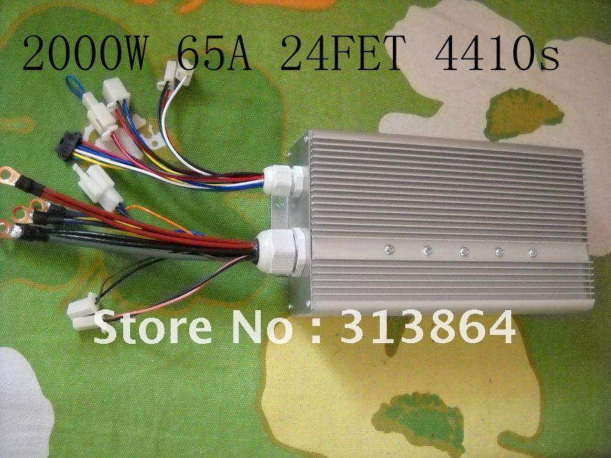 24FET 4410's 2000-2500W 48-84V 65Amax BLDC motor controller, EV brushless speed controller