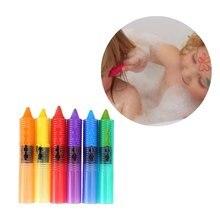 6 шт. моющиеся цветные карандаши для ванны, игрушки для купания, безопасные цветные карандаши для детей, развивающие игрушки для купания