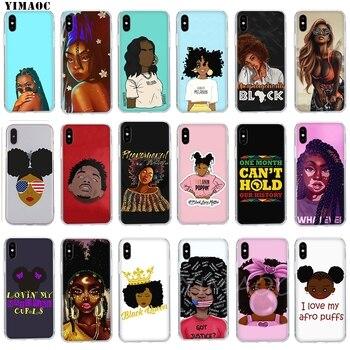 OUAGADOUGOU Mélanine Poppin Aba Hip Hop Rappeur Souple En Silicone TPU Housse pour iPhone 8 7 6 6 s Plus 5 5S SE X XS Max XR Étuis