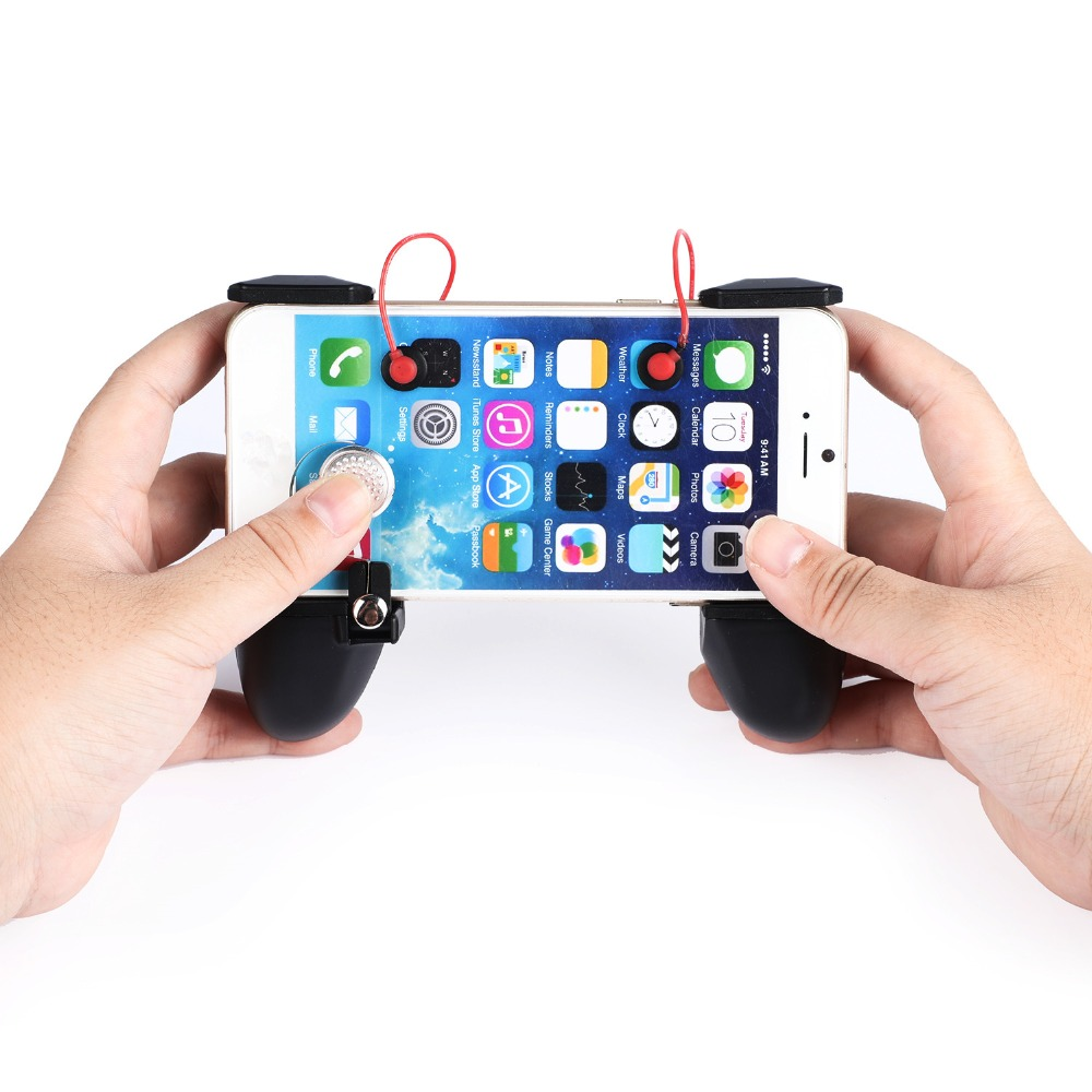 2 in 1 Universal Mobile Phone Gamepad Controller L1R1 Trigger Fire Button Shooter Controller For PUBG For iphone Android-in Gamepads from Consumer Electronics