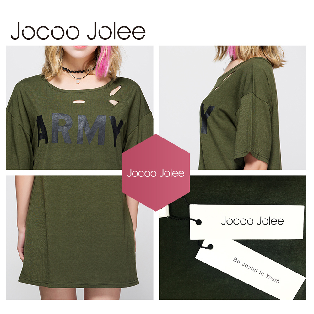 Jocoo Jolee Solid Pierced Hole T-shirt- ի Կանանց - Կանացի հագուստ - Լուսանկար 6