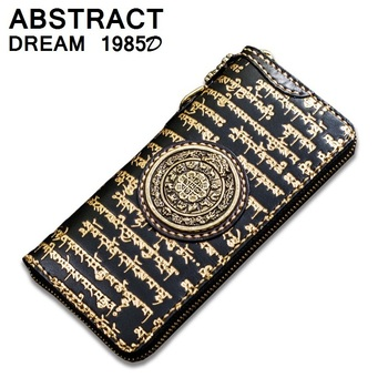 Tibetan Pattern Women's Leather Wallet
