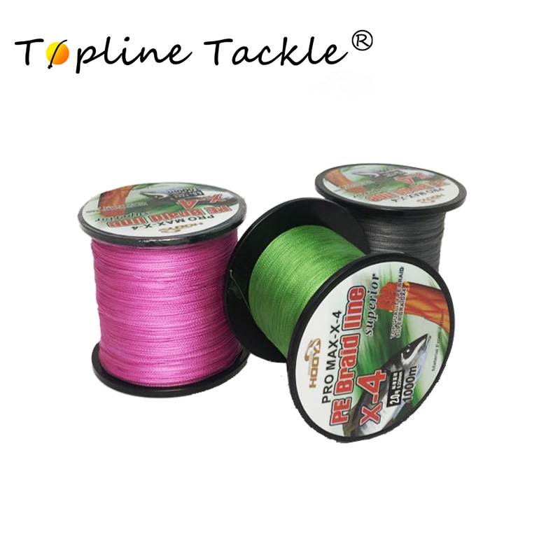 Ligne de pêche multi-filaments tressé 1000mPE ligne de pêche 4 brins 10 15 20 25 30 40 50 80LB pêche à la carpe